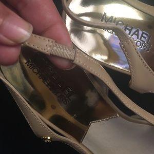 MICHAEL Michael Kors Shoes - Michael Kors nude peep toe sling back heels